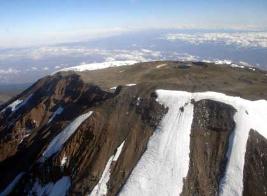 Melting glaciers of Mt. Kilimanjaro