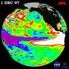 1997 El Nino - Jet Propulsion Laboratory, NASA