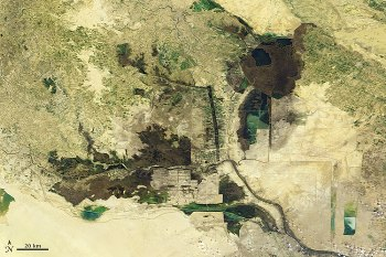 Mesopotamia Marshes 2007 - NASA Earth Observatory