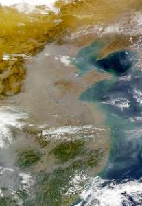 China air pollution - NASA photo