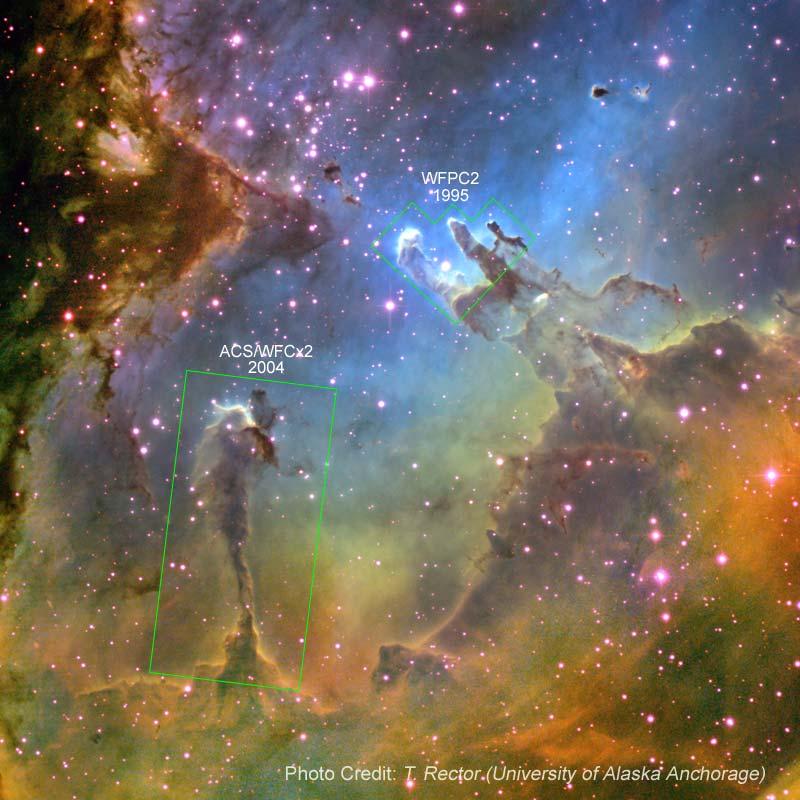 Eagle nebula - Hubble Space Telescope