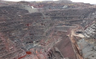 Open pit iron ore mine in Michigan: In store for the Penokee Hills of northern WI if the state politicans have their way.