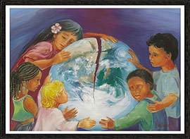 """The Children Area Asking"" - art by Mary Southard, CSJ"