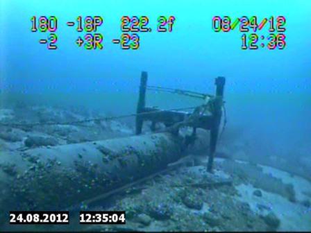 Enbridge pipeline under the Straits of Mackinac. Photo: National Wildlife Federation