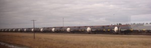 Oil tanker trains in North Dakota. Photo: Joan Shrout