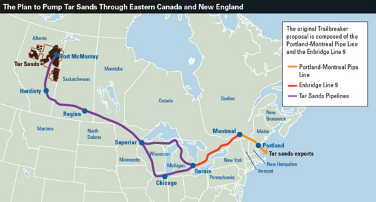 Enbridge Pipeline Map. Credit: EcoNews