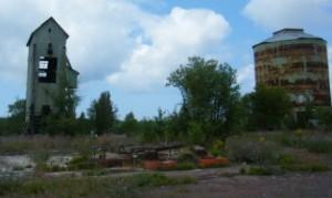 Rusted copper mine left behind in Calumet MI