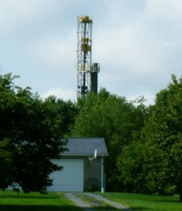 Fracking well under construction in Western PA