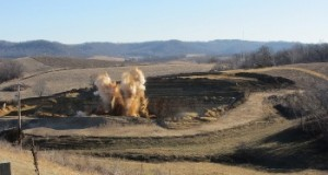 Credit: Jeff Falk of the Reglin & Hesch mine near Arcadia, WI. Source: Frac Sand Frisbee
