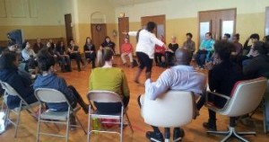 Worshop on gender justice at the Body & Soul Healing Arts Center in Milwaukee on MLK holiday. Photo: Venice Williams
