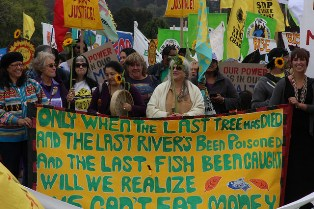 Pipeline protest at Burnaby Mountain, Canada
