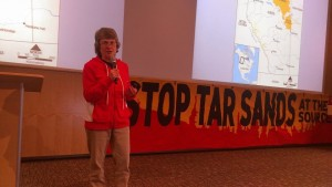 Speaking at UW-Whitewater for the Enbridge Tar Sands Resistance Tour