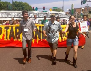 Tar sands resistance March in MN. Photo: Thomas Frank