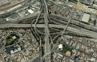 East Los Angeles Interchange - google earth