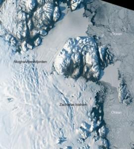 The Zachariae glacier. Source: USGS/NASA Landsat taken on August, 30 2014